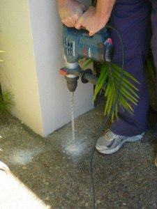 Drilling for termite treatment